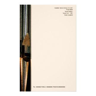 Metal organ pipe letterhead customized stationery