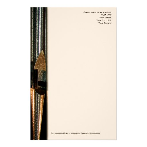Metal organ pipe letterhead customized stationery