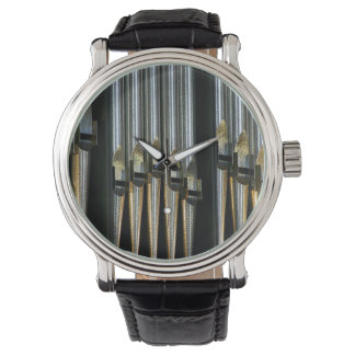 Metal organ pipes wrist watches