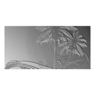 Metal Palms Custom Photo Card