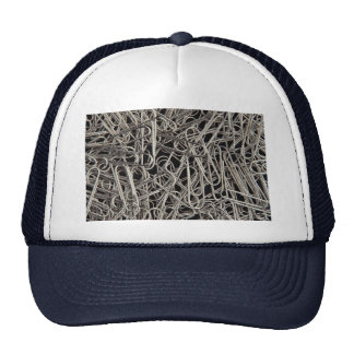 Metal paper clips mesh hats