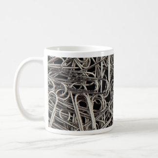 Metal paper clips mug