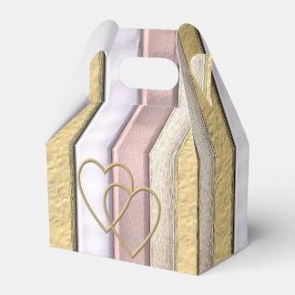 Metal pattern with shine, art favour box