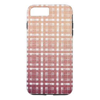 Metal Pink Modern Plaid Ombre iPhone 7 Plus Case