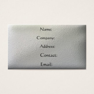 Metal - pitted business card