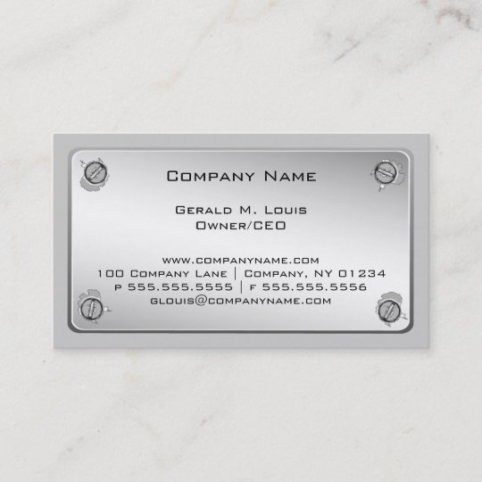 Metal plate construction business cards zazzle metal plate construction business cards reheart Image collections