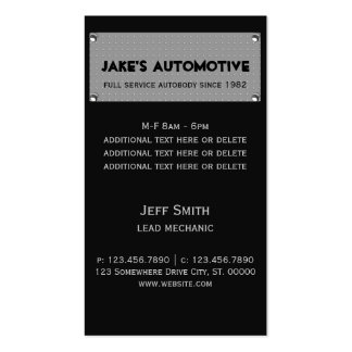 Metal Plate Pack Of Standard Business Cards