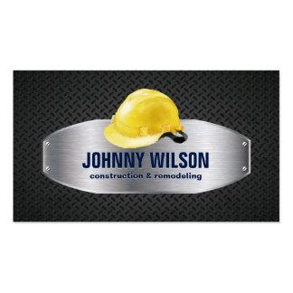 Metal Plate Safety Helmet Construction Renovation Pack Of Standard Business Cards