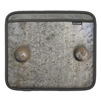 Metal Plate With Screws iPad Sleeve
