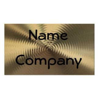 Metal Plates Circular Design Business Cards