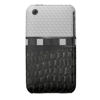 Metal Printed Spike Leather iPhone 3 Cover