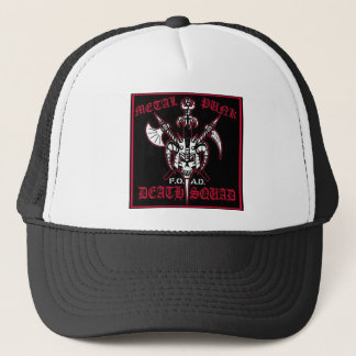 METAL PUNK DEATH SQUAD TRUCKER HAT