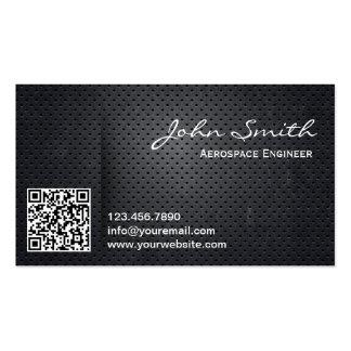 Metal QR Code Aerospace Engineer Business Card