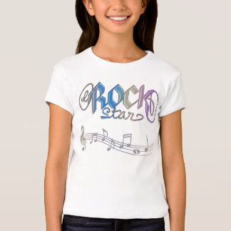 Metal Rainbow Rockstar Notes Kids Music T-Shirt