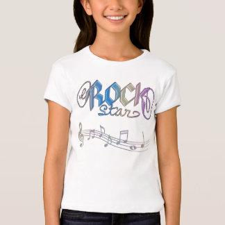 Metal Rainbow Rockstar Notes Kids Music T-Shirt