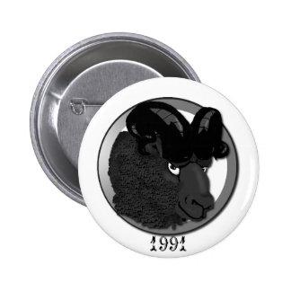 Metal Ram 6 Cm Round Badge