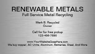 Recycling business cards business card printing zazzle uk metal recycling business cards reheart Gallery