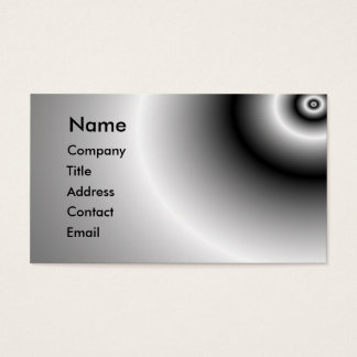 Metal reflection business card