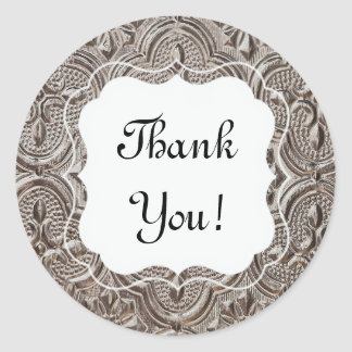 "Metal Relief ""Thank You"" Sticker"