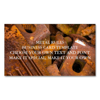 METAL RULES MAGNETIC BUSINESS CARD TEMPLATE MAGNETIC BUSINESS CARDS
