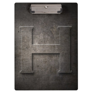 Metal Rustic H Monogram Clipboard