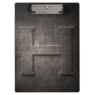 Metal Rustic H Monogram - Clipboard