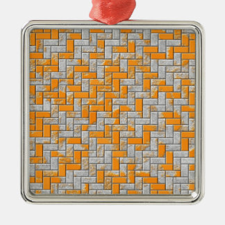 Metal rusty surface illustration Silver-Colored square decoration