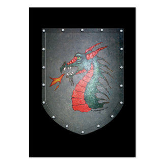 Metal Shield Dragon Black Pack Of Chubby Business Cards