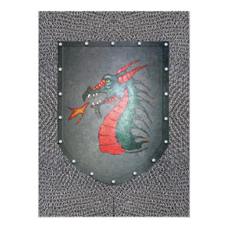 Metal Shield Dragon Chainmail Card