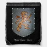 Metal Shield Lion Rucksack