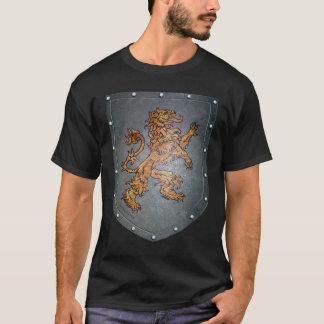 Metal Shield Medieval Gold Lion T-Shirt