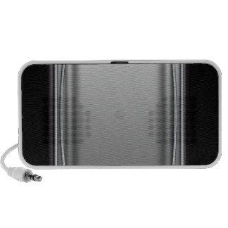 Metal silver elegant masculine portable speakers