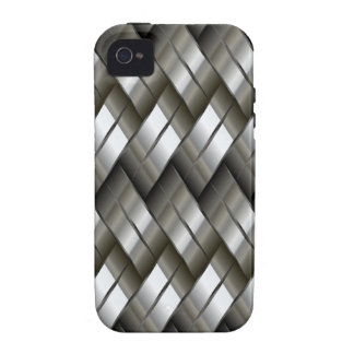 Metal Silver Pattern iPhone 4/4S Cases