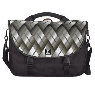 Metal Silver Pattern Laptop Bags