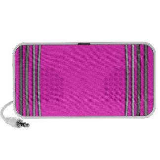 Metal silver pink elegant portable laptop speakers