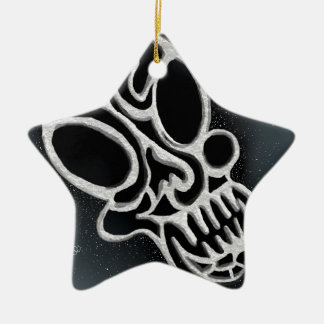 Metal Skull Christmas Ornament