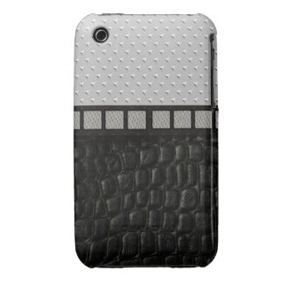Metal Spikes Leather iPhone 3 Cases