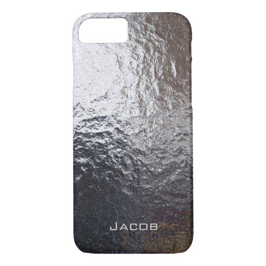 Metal Steel Chrome Rock iPhone 8/7 Case