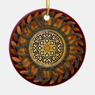 Metal Sun Splendor Christmas Ornament