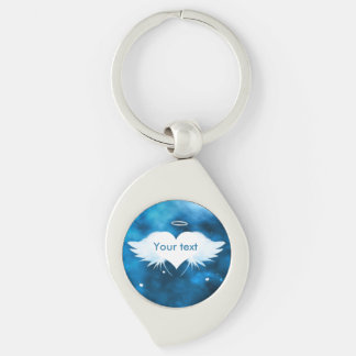Metal Swirl Keychain - Angel of the Heart Silver-Colored Swirl Keychain