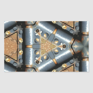 metal symmetry rectangle sticker