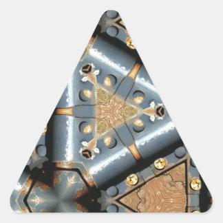 metal symmetry triangle sticker