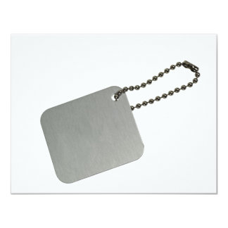 Metal tag with chain announcement