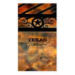 Metal Texas Star Business Card Vintage Rust