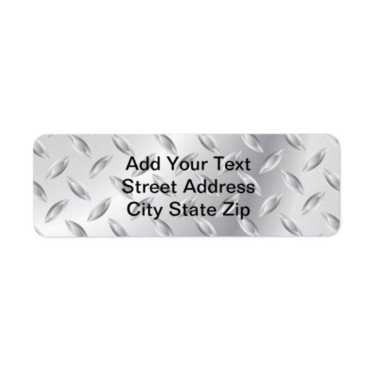 Metal Texture Return Address Label