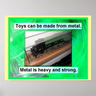 Metal toys poster
