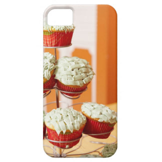 Metal tree displaying frosted cupcakes iPhone 5 cover
