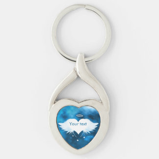 Metal Twisted Heart Keychain - Angel of the Heart