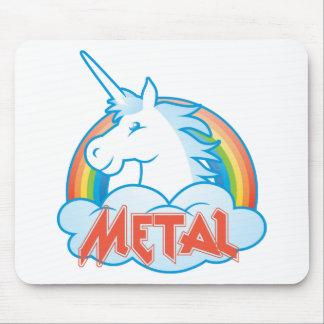 metal-unicorn mouse mat