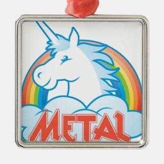 metal-unicorn Silver-Colored square decoration